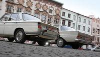 BMW 1800, Mercedes 200, Heckansicht