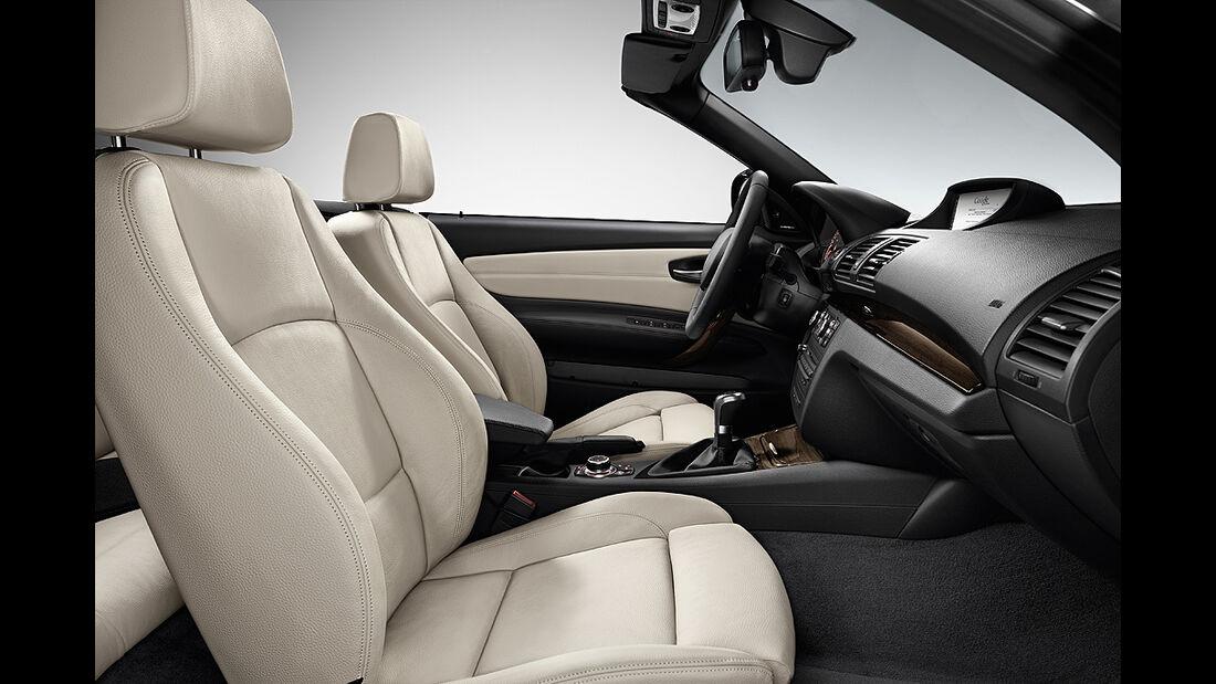 BMW 1er Cabrio, Facelift, 2011, Innenraum, Sitze, Cockpit