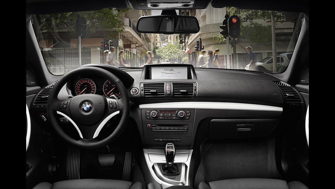 BMW 1er Coupé, Facelift, 2011, Cockpit, Innenraum
