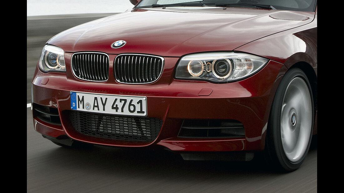 BMW 1er Coupé, Facelift, 2011, Scheinwerfer, Frontschürze