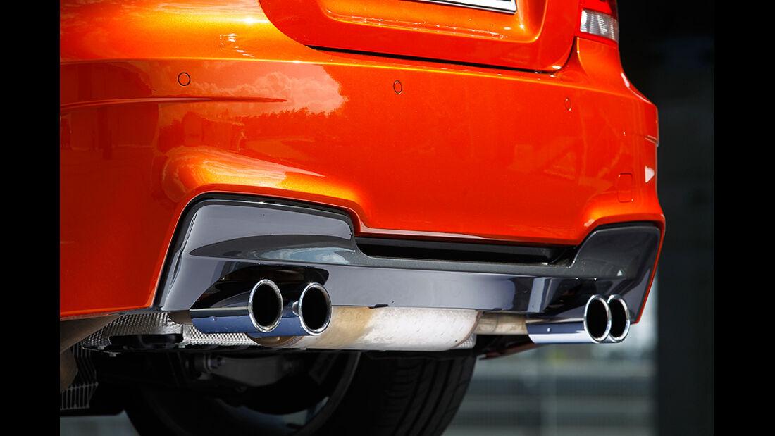 BMW 1er Coupe, Heck, Auspuffanlage