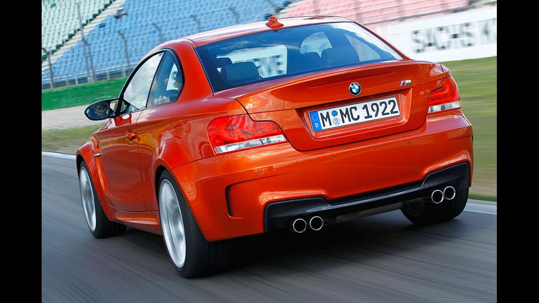 BMW 1er Coupe, RŸckansicht, Kurve, Teststrecke