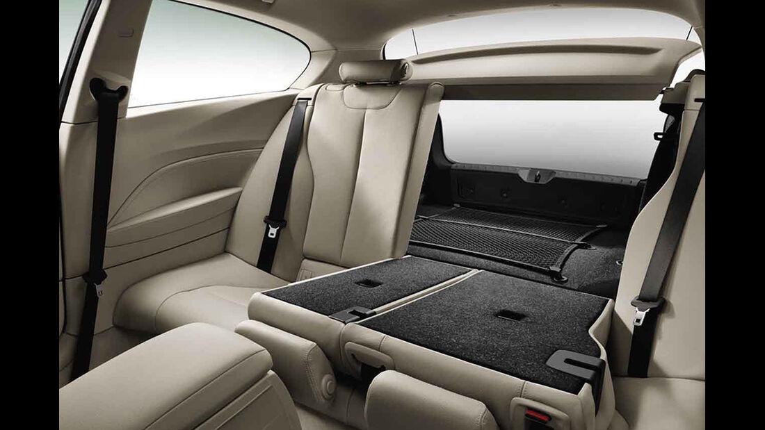 BMW 1er Dreitürer, Innenraum, Fond, Kofferraum