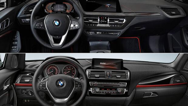 BMW 1er F40 und F20 Vergleich, Cockpit