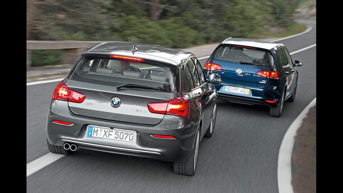 BMW 1er Facelift 2015, VW Golf VII