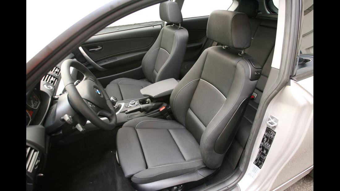 BMW 1er, Innenraum, Sitze