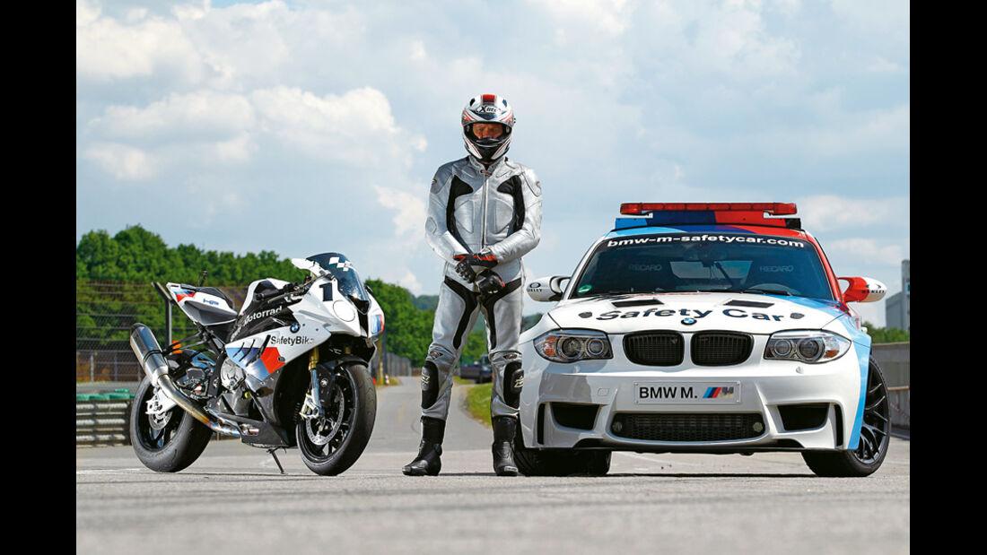 BMW 1er M Coupé, BMW S 1000 RR, Frontansicht
