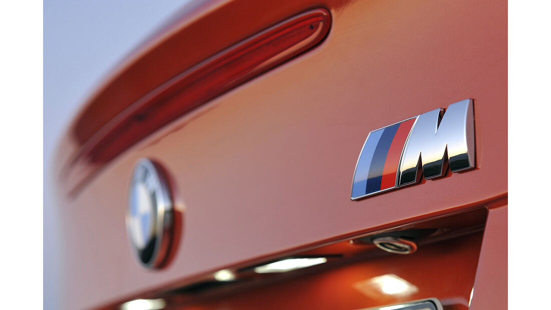 BMW 1er M Coupé, M-Emblem, M-Zeichen