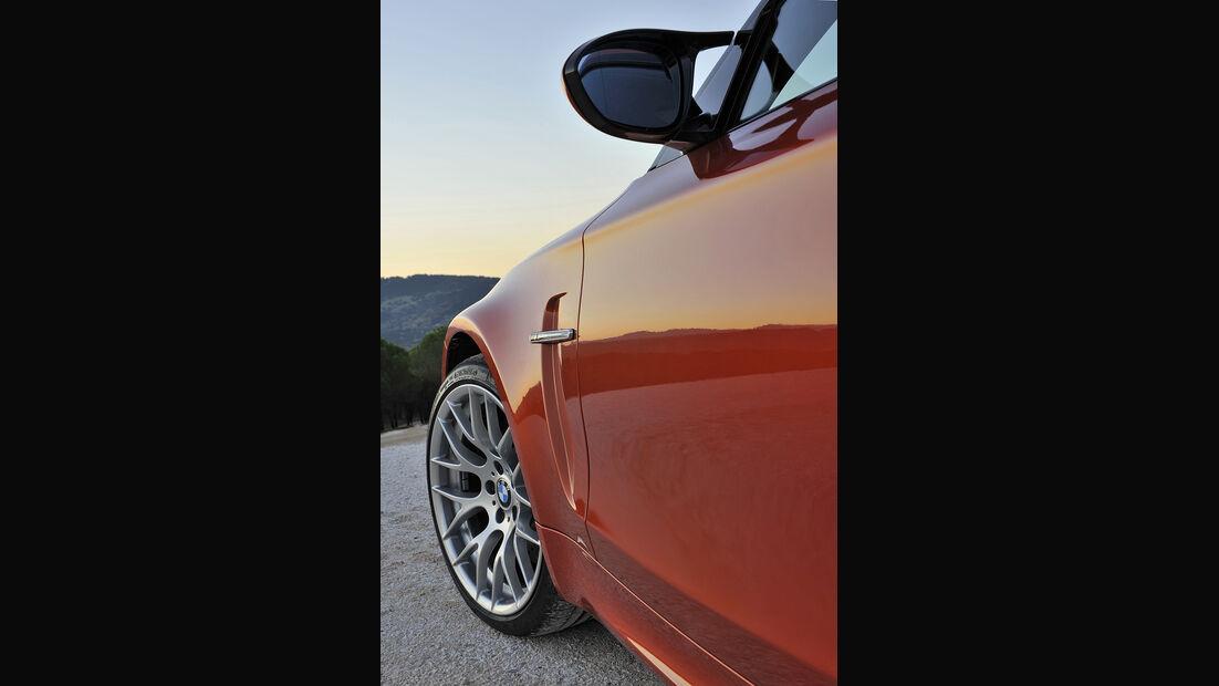 BMW 1er M Coupé, Seitenansicht, Felge