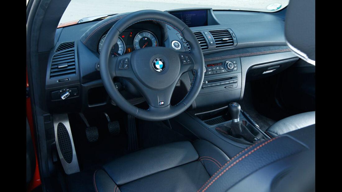 BMW 1er M Coupe, Cockpit, Lenkrad