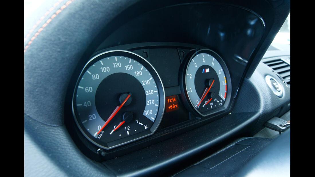 BMW 1er M Coupe, Tacho, Anzeigeinstrumente