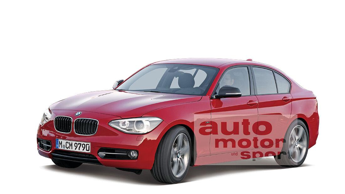 BMW 1er Stufenheck, Retusche