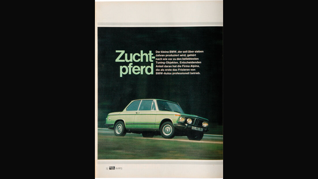 BMW 2002 tii Alpina, Alter Fahrbericht