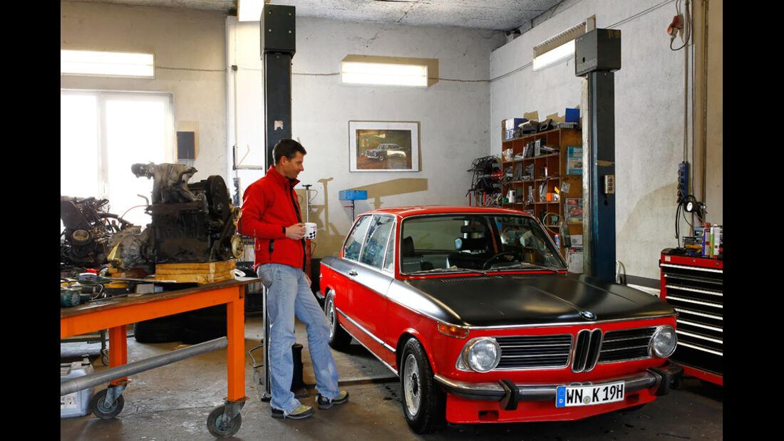 BMW 2002 tii Alpina, Bernd Koberstein, Werkstatt