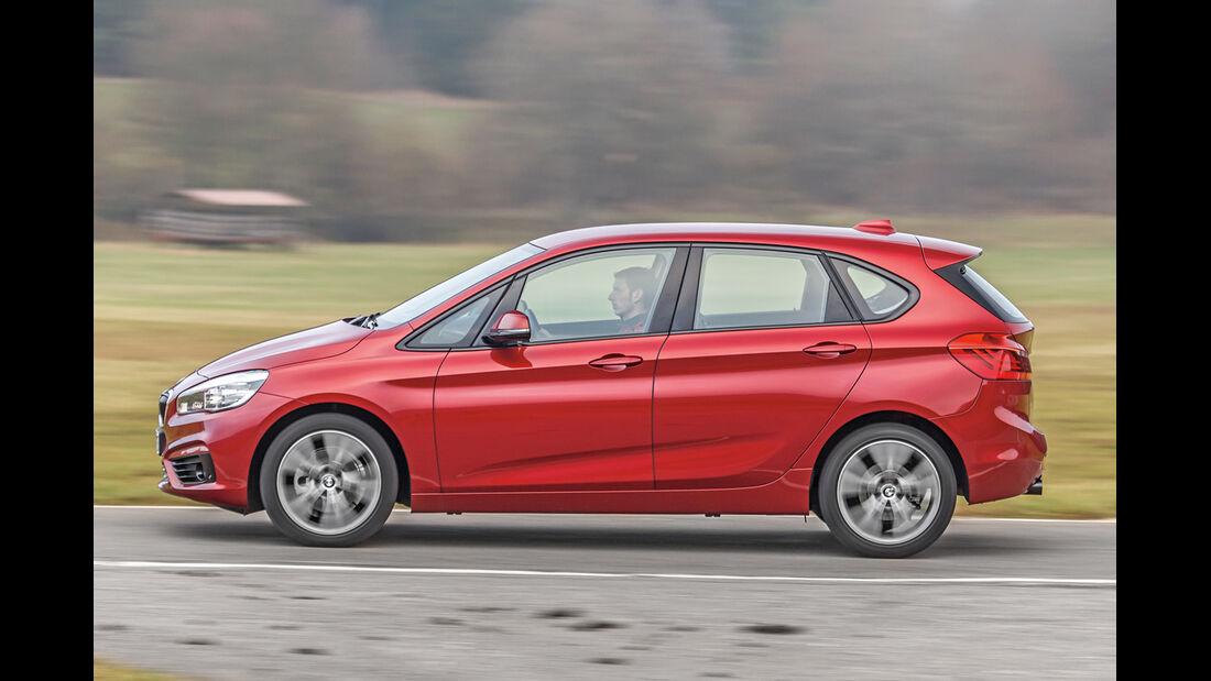 BMW 218d Active Tourer, Seitenansicht