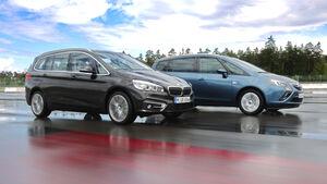 BMW 218d Gran Tourer, Opel Zafira Tourer 1.6 CDTI, Seitenansicht