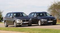 BMW 218i Active Tourer, BMW 316i Touring, Frontansicht