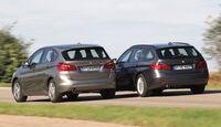 BMW 218i Active Tourer, BMW 316i Touring, Heckansicht