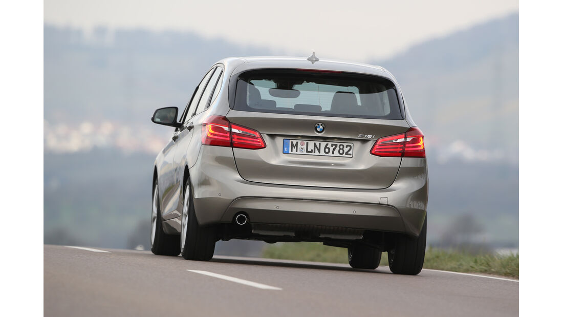 BMW 218i Active Tourer, Heckansicht