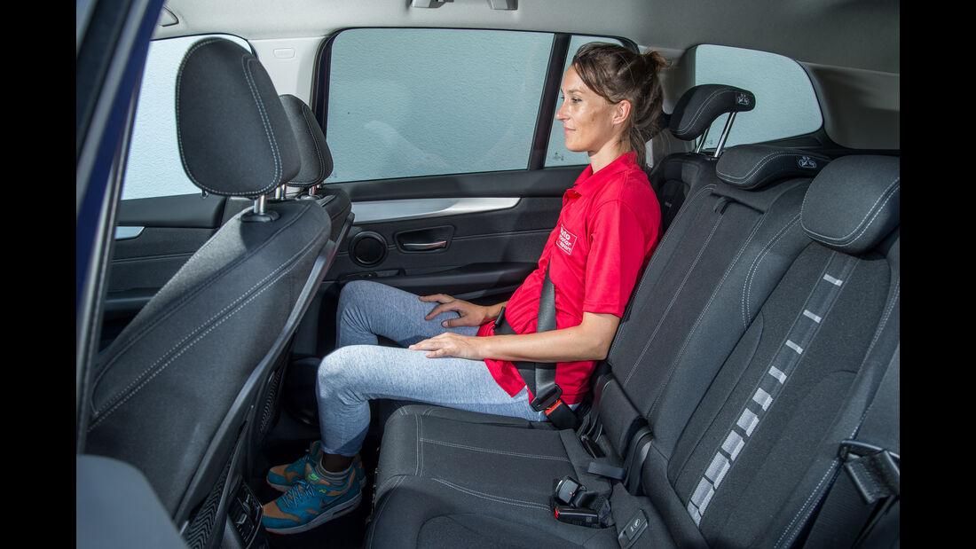 BMW 218i Gran Tourer, Fondsitze