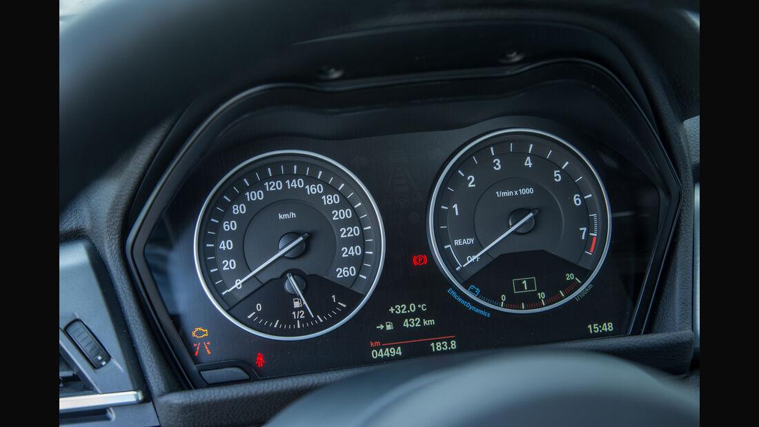 BMW 218i Gran Tourer, Rundinstrumente