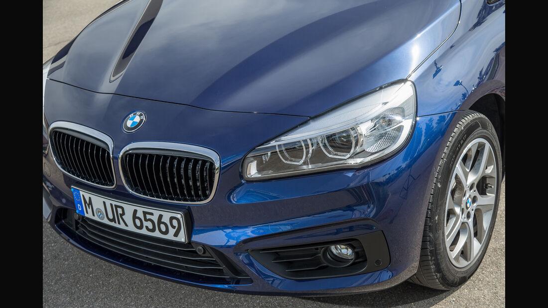 BMW 218i Gran Tourer, Scheinwerfer, Kühlergrill