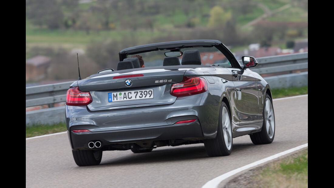 BMW 220d Cabrio, Heckansicht