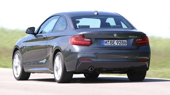BMW 220d, Heckansicht