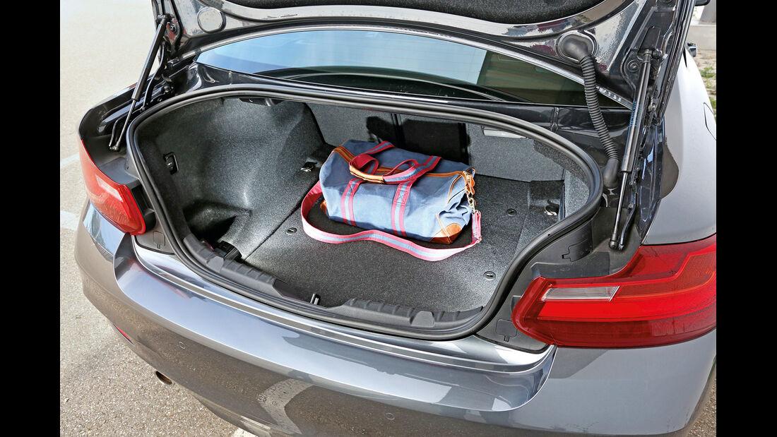 BMW 220d, Kofferraum