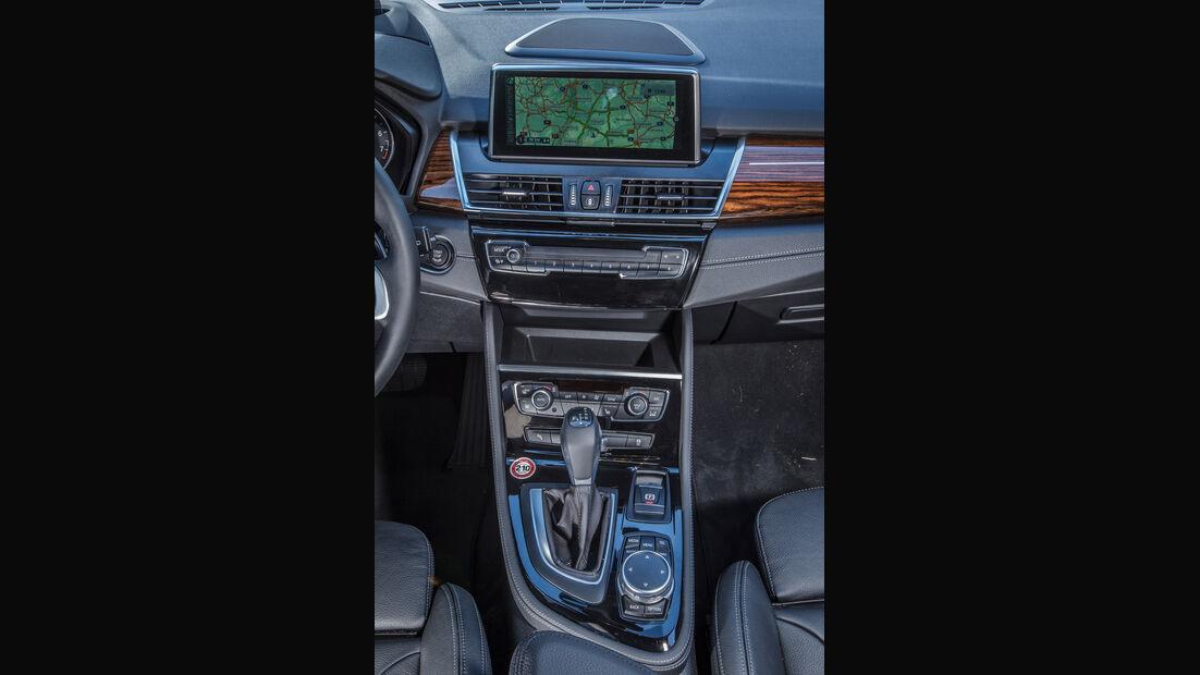 BMW 220i Active Tourer, Mittelkonsole