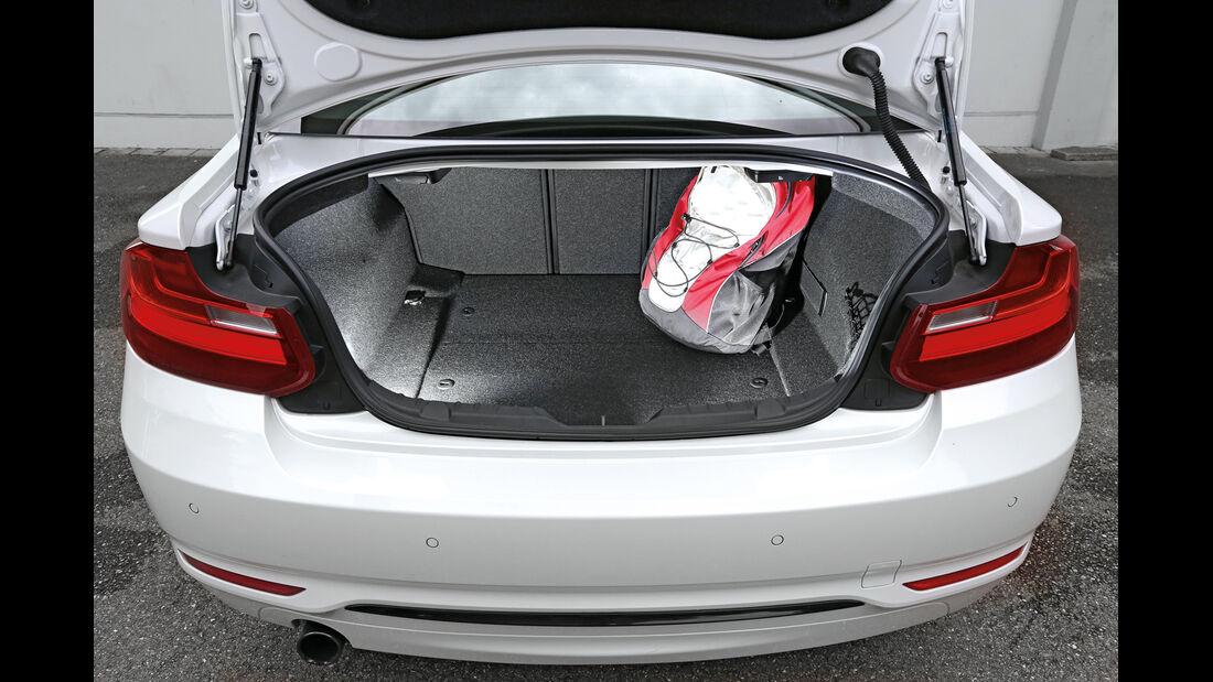 BMW 220i, Kofferraum