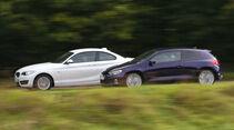 BMW 220i, VW Scirocco 2.0 TSI, Seitenansicht