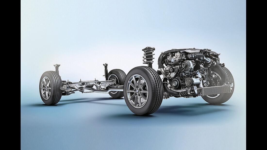 BMW 2er Active Tourer, Antrieb, Plattform