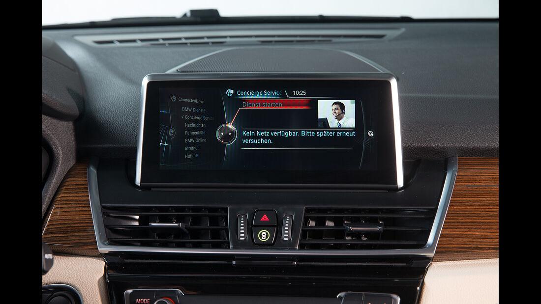 BMW 2er Active Tourer, Infotainment, Concierge-Service