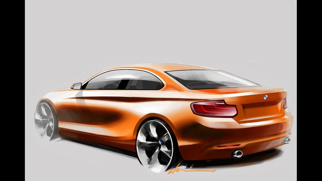 BMW 2er Coupé, Zeichnung