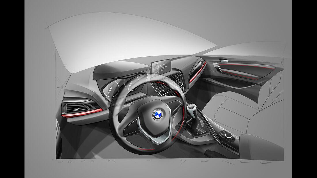 BMW 2er Coupé, Zeichnung, Cockpit