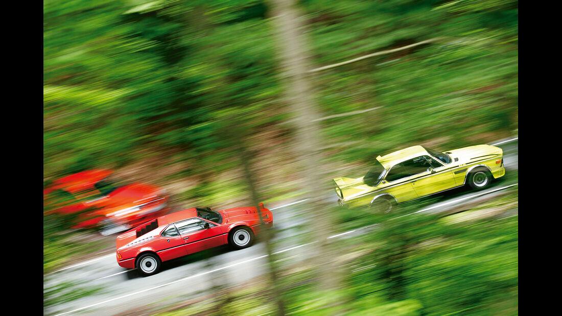 BMW 3.0 CSL, BMW M1, Seitenansicht