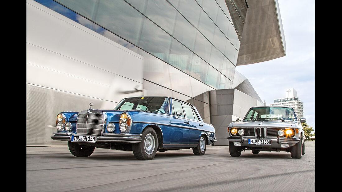 BMW 3.3 Li, Mercedes 280 SE 3.5, Frontansicht