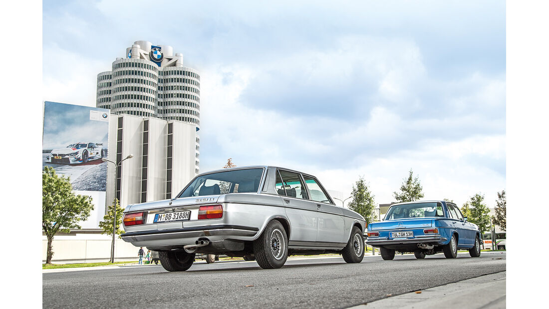 BMW 3.3 Li, Mercedes 280 SE 3.5, Heckansicht