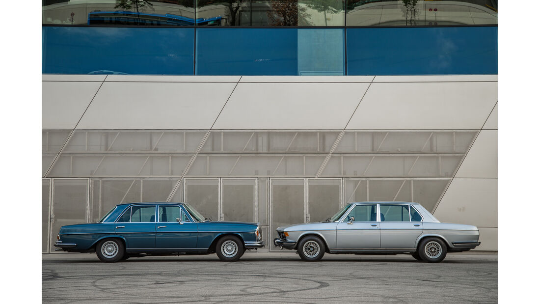 BMW 3.3 Li, Mercedes 280 SE 3.5, Seitenansicht