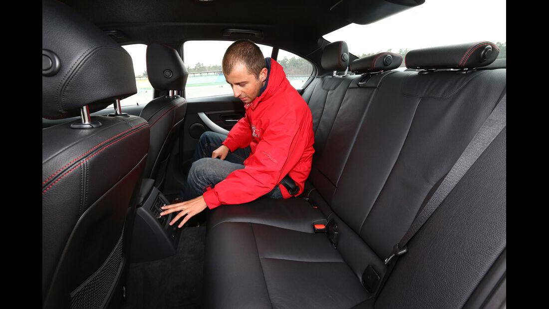 BMW 316d, Rücksitz, Beinfreiheit