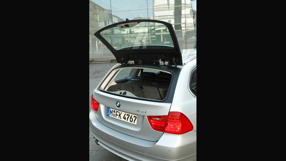 BMW 316d Touring, Kofferraumklappe