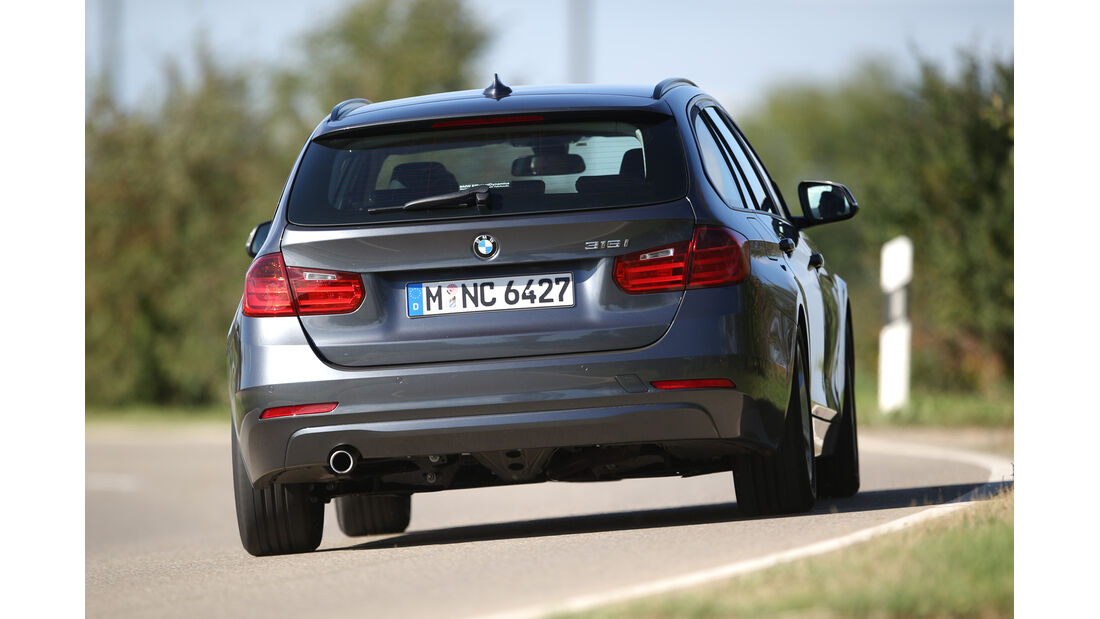 BMW 316i Touring, Heckansicht