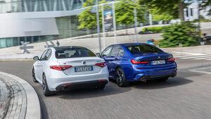 BMW 318d, Alfa Romeo Giulia 2.2 d, Exteriuer