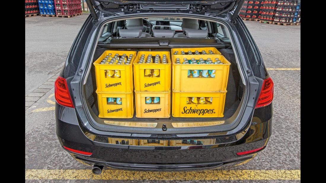 BMW 318d Touring, Kofferraum, Kisten