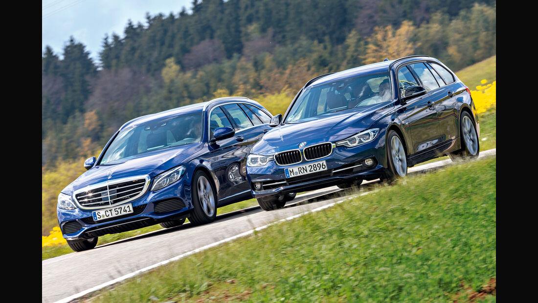 BMW 318i Touring, Mercedes C 160 T