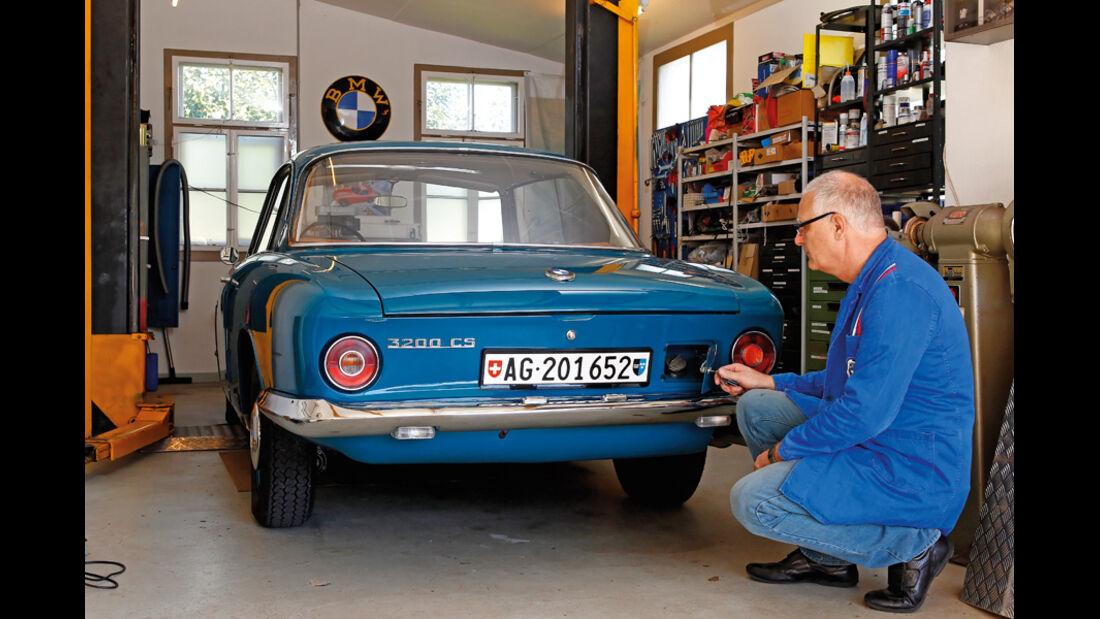 BMW 3200 CS, Werkstatt
