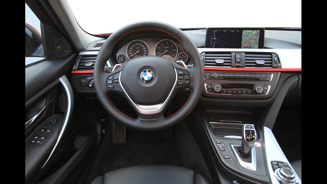 BMW 320d Automatik, Cockpit, Lenkrad
