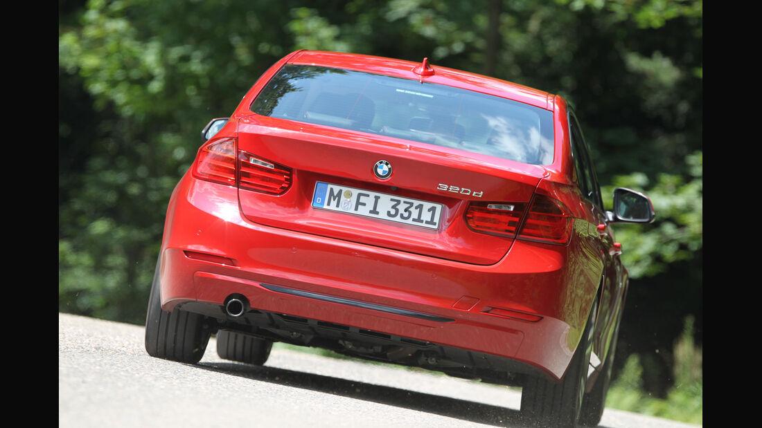 BMW 320d Automatik, Heckansicht