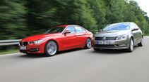 BMW 320d Automatik, VW Passat 2.0 TDI DSG, Seitenansicht